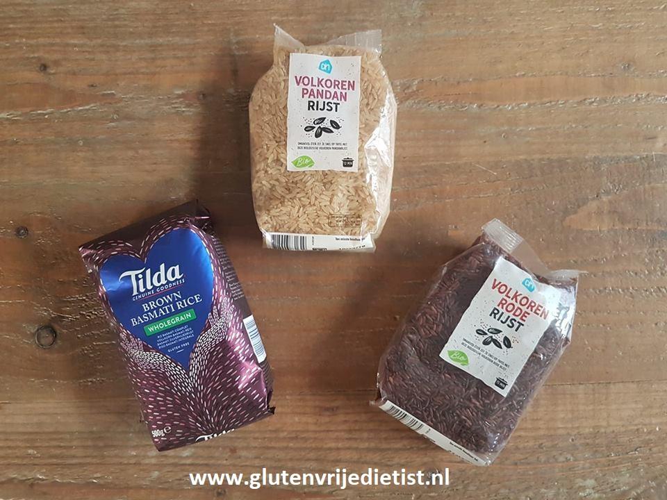 Volkoren rijstproducten